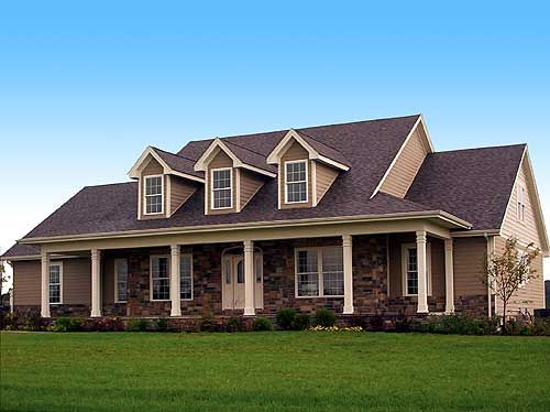 3072 sq. ft. - 4 BR/3 BA - Like a LOT: Dreams Houses, Farms Houses, Nice Houses, Farmhouse Porches One Stories, Exterior Colors, Country Home, Brick Farmhouse Exterior, Exterior Farmhouse, Houses Plans