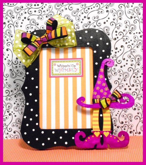 Halloween Picture Frame Whimsical Halloween by WhippinUpWhimsey