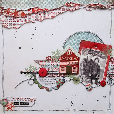 #papercraft #scrapbook #layout. made with Nordic holiday collection from Basic Grey. Layout by Erin Blegen