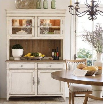 Hooker Furniture Chic Coterie Buffet and Hutch in Antique White - transitional - buffets and sideboards - by cymax
