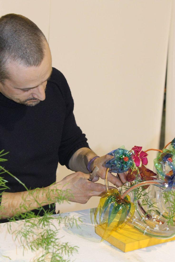 Claudio Montecampi al lavoro