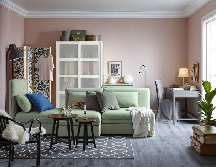 vgg frg gravity home pastel colored living room from the ikea catalog