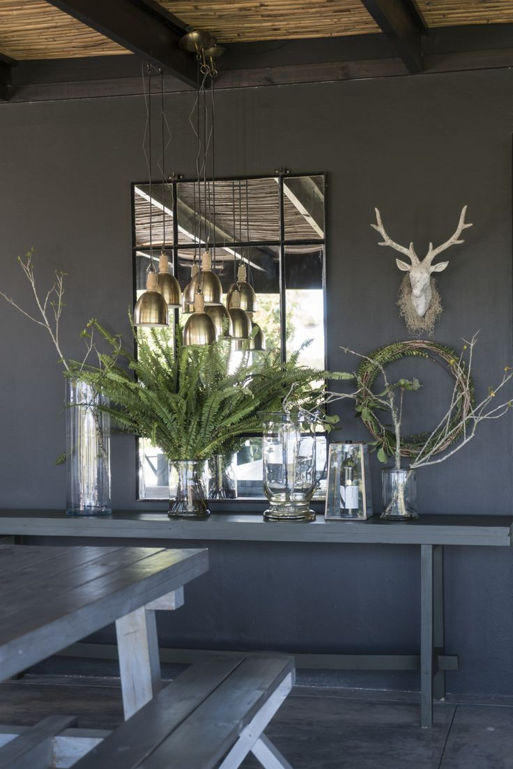 Tablescapes at Newstead Wines.  Garden Route South Africa #winefarm #plettwinelands #décor #green #africandecor