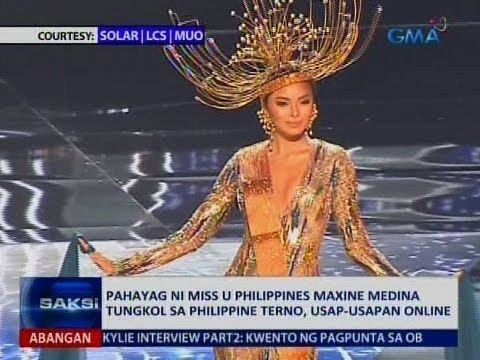 Saksi: Pahayag ni Miss U Philippines Maxine Medina tungkol sa Philippine terno, usap-usapan online - WATCH VIDEO HERE -> http://philippinesonline.info/entertainment/saksi-pahayag-ni-miss-u-philippines-maxine-medina-tungkol-sa-philippine-terno-usap-usapan-online/   Saksi is GMA Network's late-night newscast hosted by Arnold Clavio and Pia Arcangel. It airs Mondays to Fridays at 11:30 PM (PHL Time) on GMA-7. For more videos from Saksi, visit  Subscribe to the GMA News an