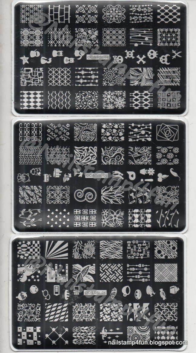 CICI&SISI Nail Stamp Collection Set Jumbo 1