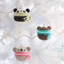 Add a touch of cuteness and craftiness to your tree this Christmas with my series of crocheted teddy ornaments! Free pattern available!