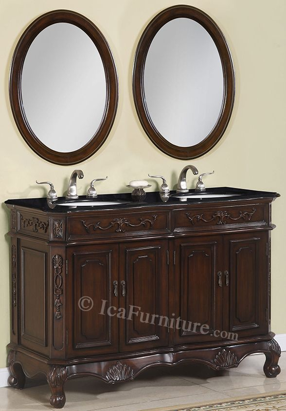 50 inch double vanity set ica furniture products - 50 inch double sink bathroom vanity ...