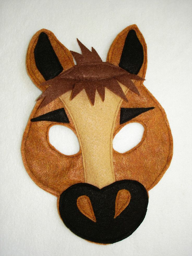 Children's+HORSE+Farm+Animal+Felt+Mask+by+magicalattic+on+Etsy,+$12.50