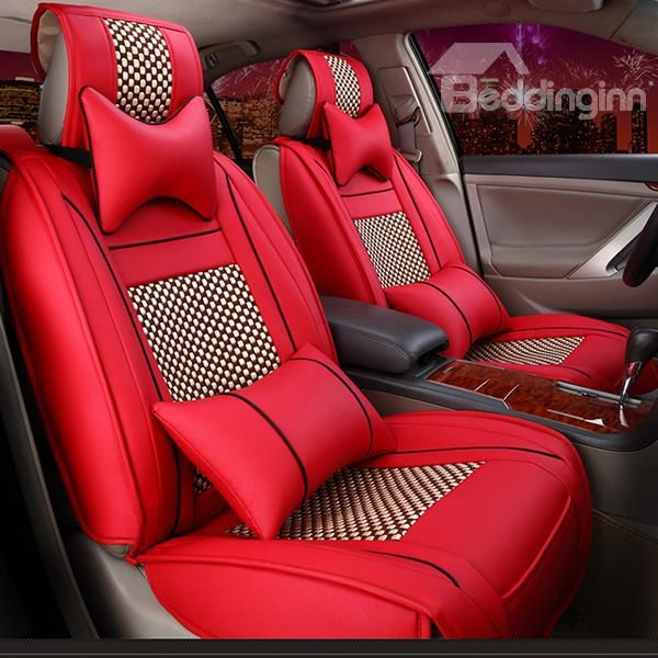 Good Super Luxurious Style Matching With Classic Color Ice Silk Car Seat Covers
