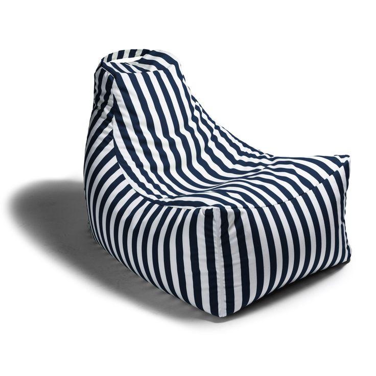 Juniper Outdoor Bean Bag Chair with Handle (Navy Striped) - Best 25+ Outdoor Bean Bag Chair Ideas On Pinterest Rustic Bean