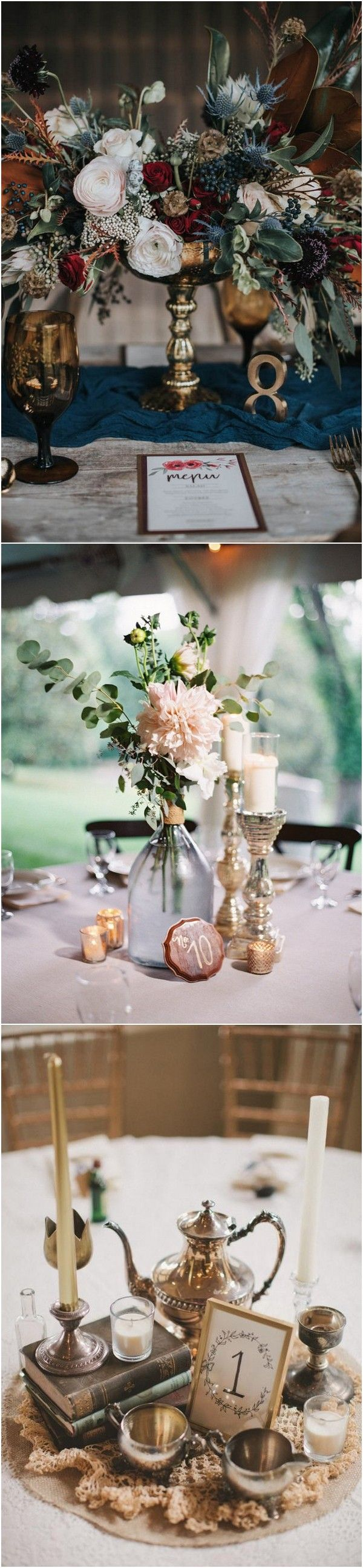 candle sticks vintage wedding centerpiece ideas