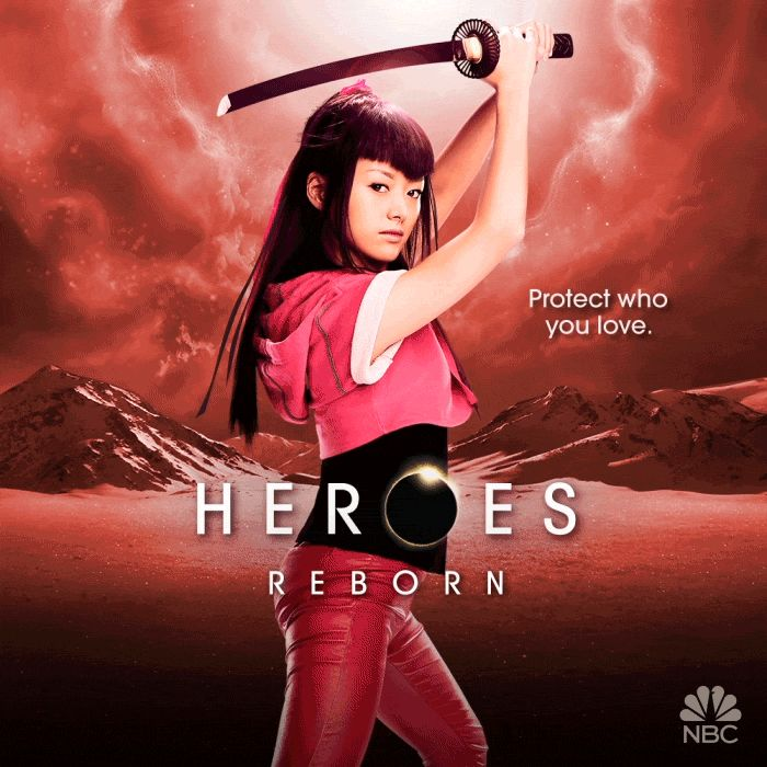 Pin for Later: Prepare to Be Dazzled by the Animated Posters For Heroes Reborn Kiki Sukezane as Miko