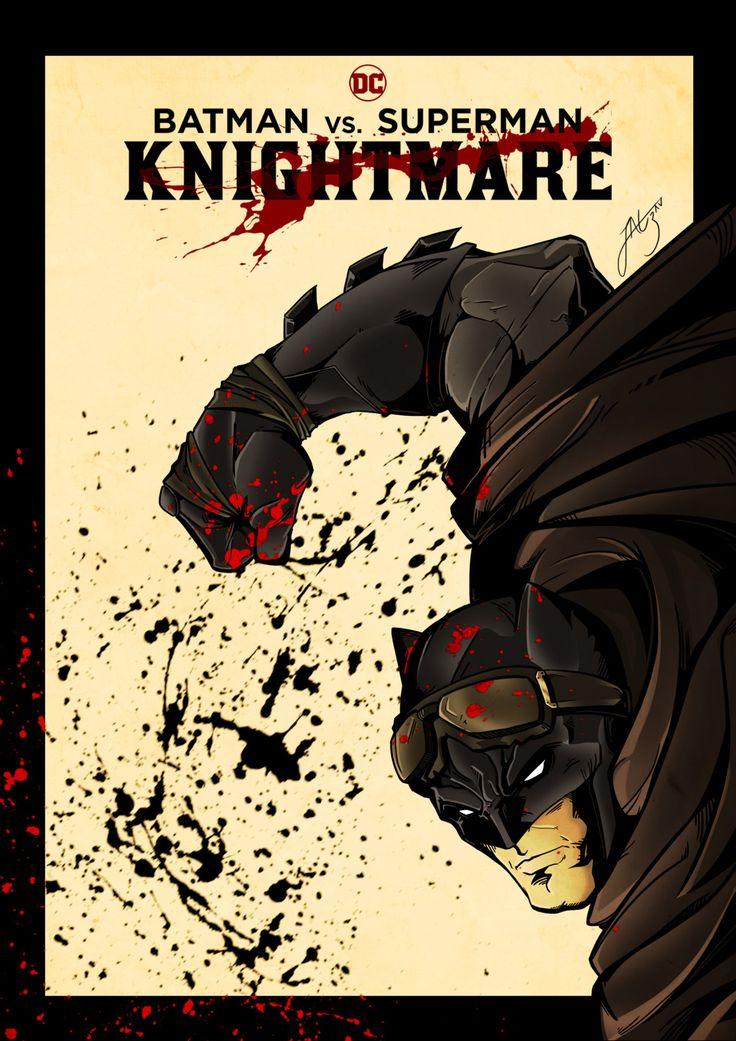 Batman vs. Superman: Knightmare - Capa Teaser, Joao Ezau on ArtStation at https://www.artstation.com/artwork/xVzV2