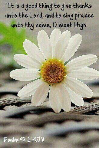 Psalm 92:1 KJV