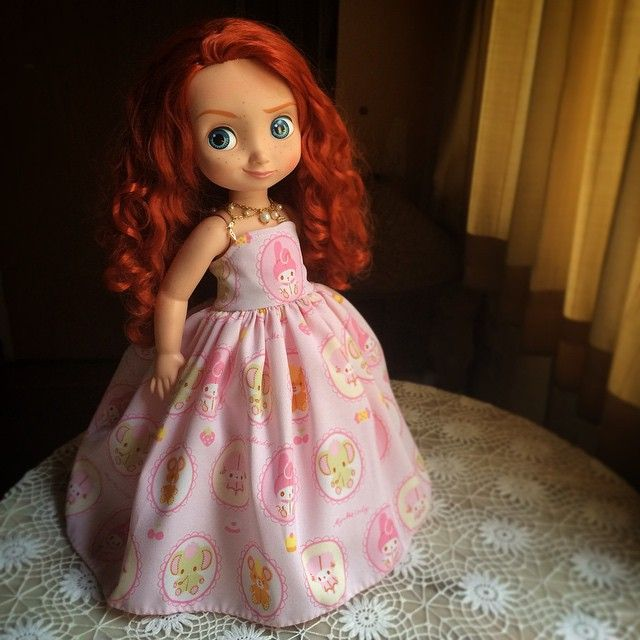 Merida looking so pretty in her pink dress |  sansuda