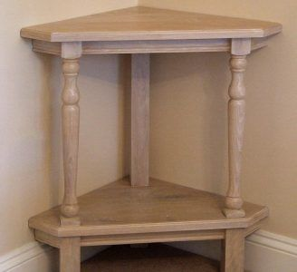 Small Corner Table in Limed Oak