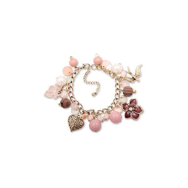 bracelet: Bijou Brigitte ($11) ❤ liked on Polyvore featuring jewelry, bracelets, fillers, accessories, pink fillers, pink jewelry and pink bangles
