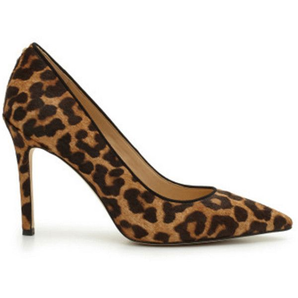 Sam Edelman Hazel Pointed Toe Heels - Leopard ($190) ❤ liked on Polyvore featuring shoes, pumps, leopard, leopard print pumps, sam edelman shoes, slip-on shoes, pointy-toe pumps and leopard slip on shoes