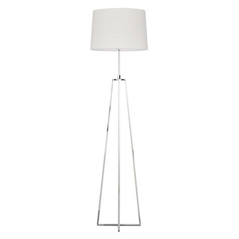 Buy John Lewis Lockhart Tripod Floor Lamp, Chrome Online at johnlewis.com