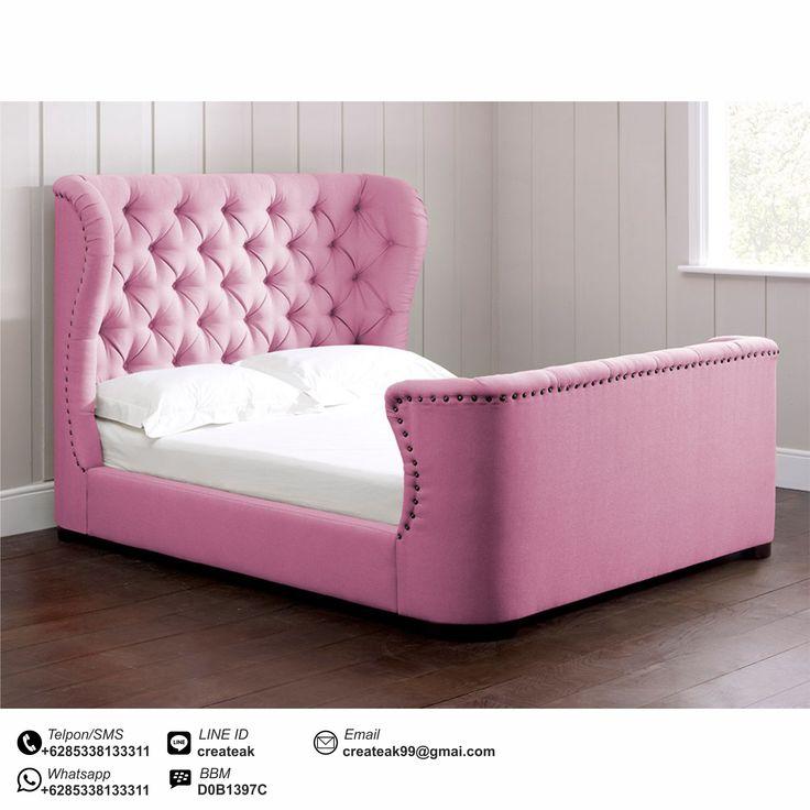 Tempat Tidur Klasik Kontemporer pink