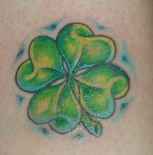 Four Leaf Clover tattoo. Cause my K was born on St Patty's day!