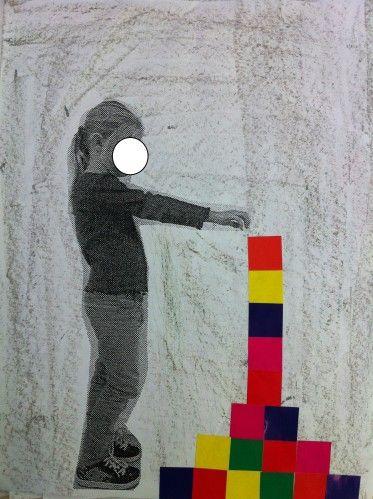 utiliser les carrés de couleur et la photo