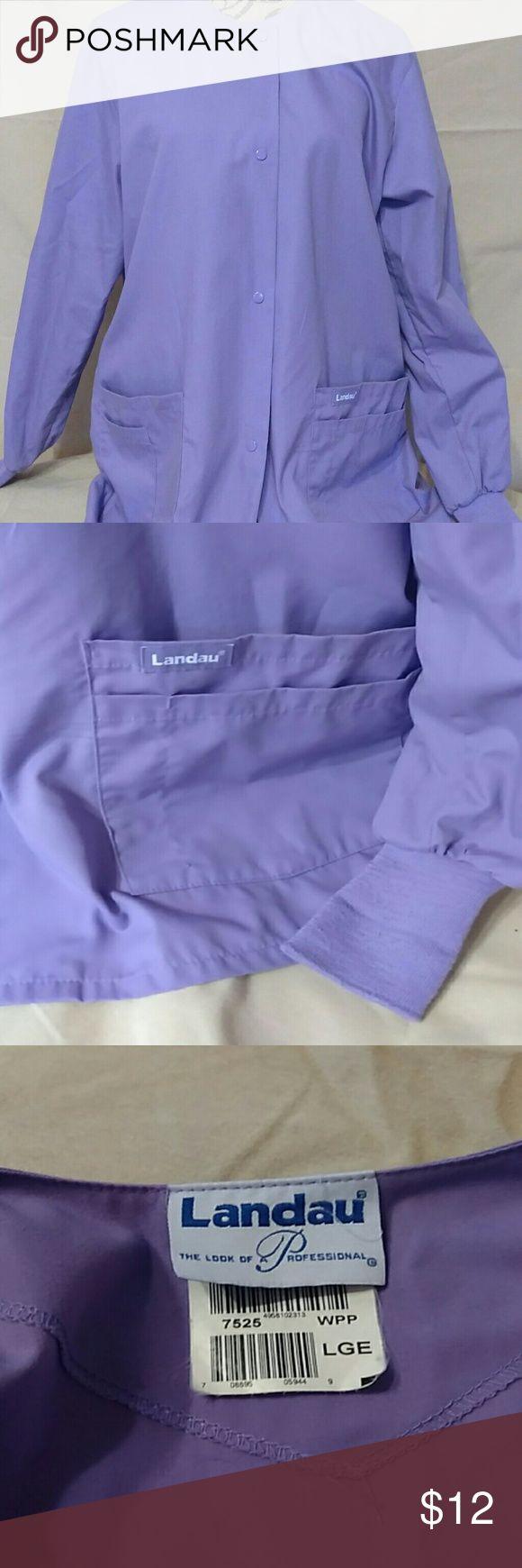 Landau Scrub Jacket Purple jacket with several pockets. Landau Jackets & Coats Utility Jackets