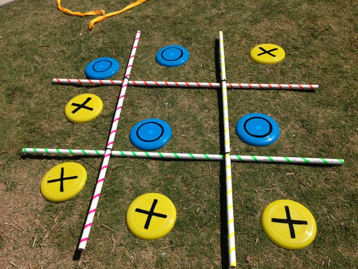 Tic Tac Toe Backyard BBQ Party