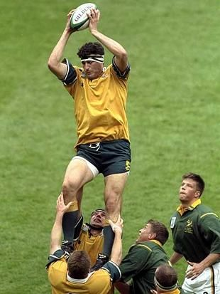 John Eales - Australian Rugby Union Captain.