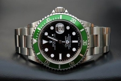Rolex Sub with green bezel