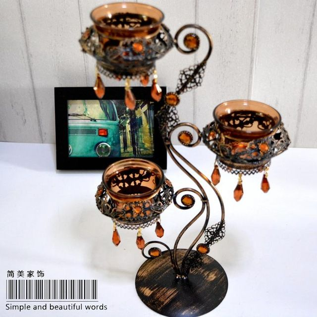 Romantic Candle Holders Metal Lanterns Wedding Candelabra Centerpieces Wedding *** Read more at the image link. #Candleholders