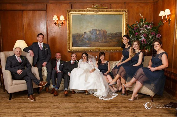 Wedding party photo at Rathsallagh