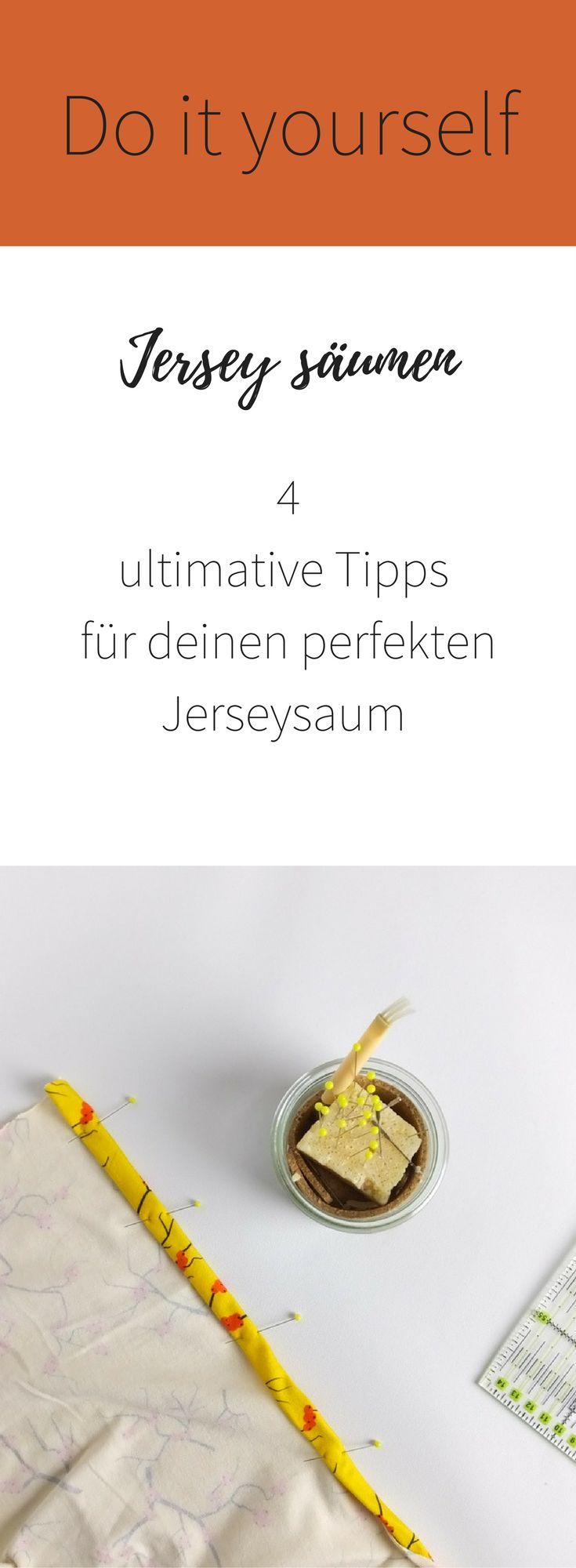 4 ultimative Tipps für den perfekten Jerseysaum! Do it yourself mit Meterlimit! So macht nähen mit Jersey Spaß!