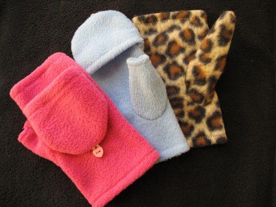 Fleece Gloves Pattern  Convertible Mittens / Gloves  by tiedyediva, $5.95