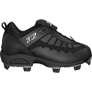 Mens 3N2 Prospect Softball Cleats Black Leather - ONLY $34.95