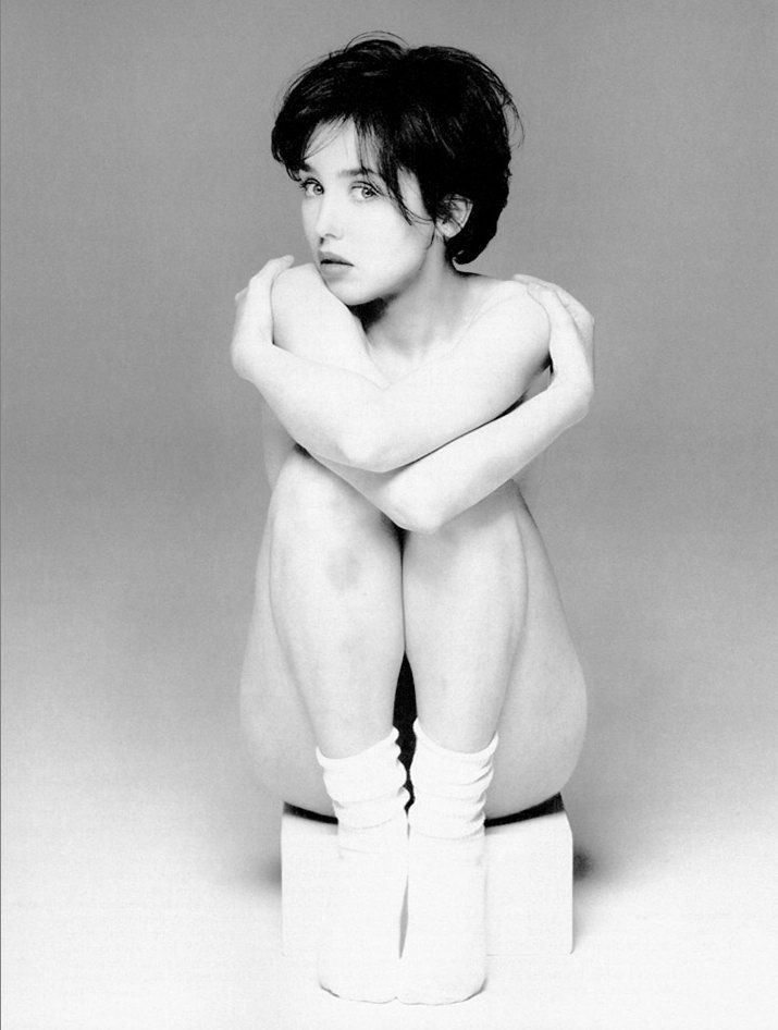 Isabelle Adjani (French) (actor) by Brigitte Lacombe for GAP Socks 1980s (nude)