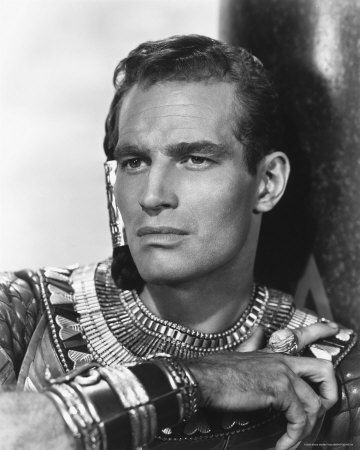 Charlton Heston as young Egyptian Moses, The Ten Commandments
