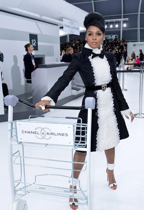 Janelle Monae Serves Futuristic Fab For Chanel's Runway Show (And Lewis Hamilton Attends) + Janet Jackson & Hubby Wissam Al Mana Hit The Front Row During #PFW   The Young, Black, and Fabulous®