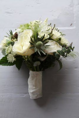 The Flower Magician: Pale Green & Ivory Wedding Bouquet