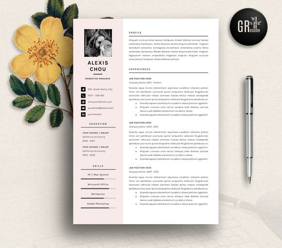 Resume Template | CV Template - 07 by GResume on @creativemarket