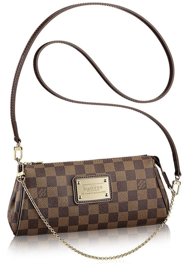 Копия сумки Louis Vuitton Eva, коричневая, Канва (сумка) + 100% Кожа (отделка) (модель blsvttn32)