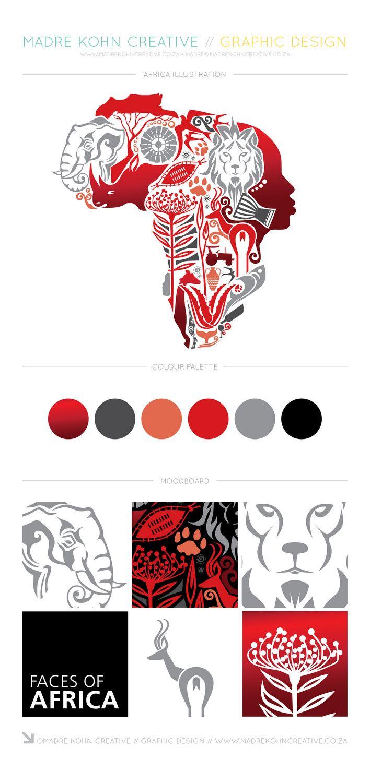 Africa Illustration designed by Madre Kohn Creative. http://www.madrekohncreative.co.za/