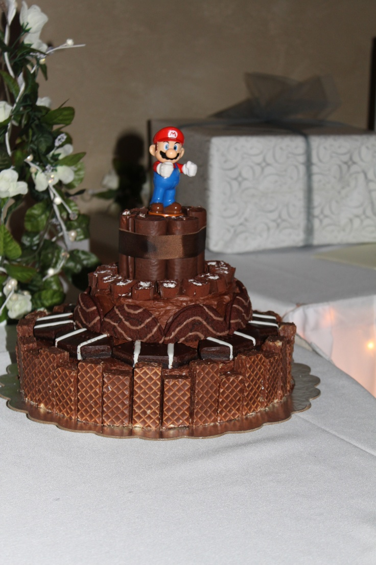 Cake Designs Debbie Drive Montgomery Al : Grooms cake with Little Debbie snack cakes and Mario ...