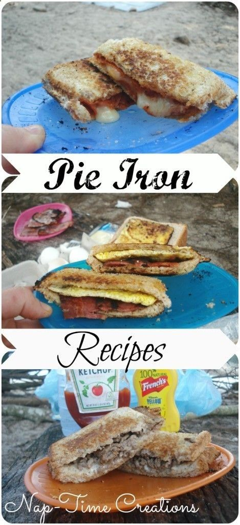 Best Pie Iron Recipes...Cheeseburger Pie, Pizza Pie, and Egg Sandwich Pie