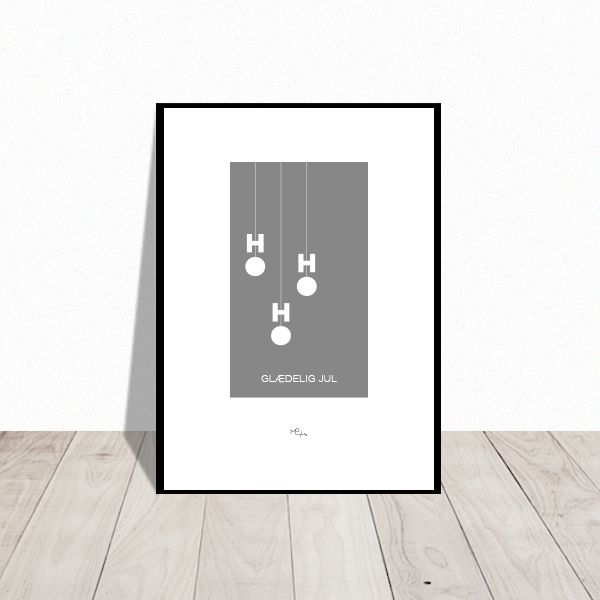 Ho-Ho-Ho. Christmas poster. Available in many colors. Design Mai-Britt Parylewicz.
