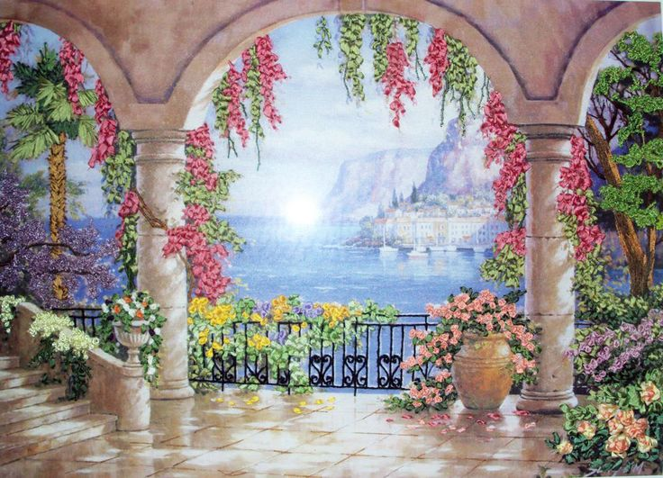 Wow!  This is silk ribbon embroidery!