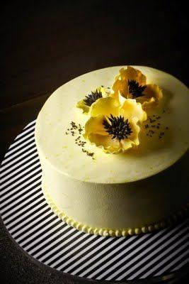 lovely yellow poppy cake