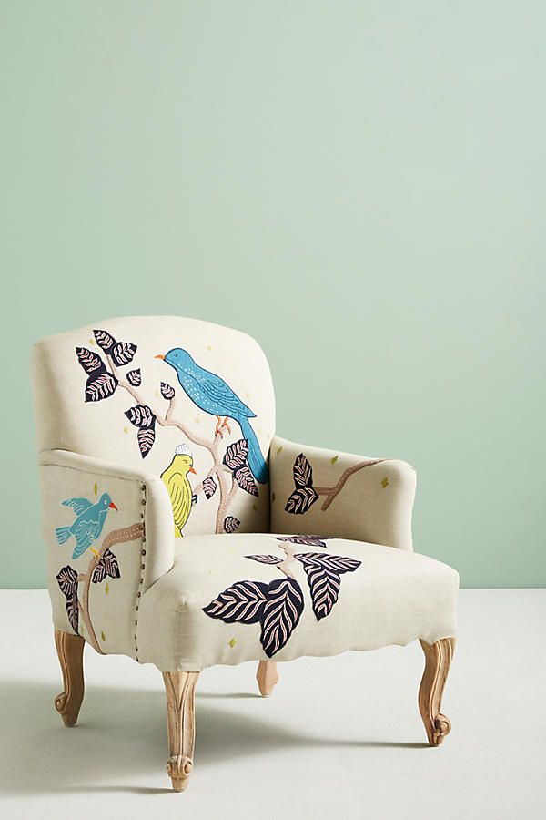 Slide View: 2: Treescape Dorrance Chair, Birds