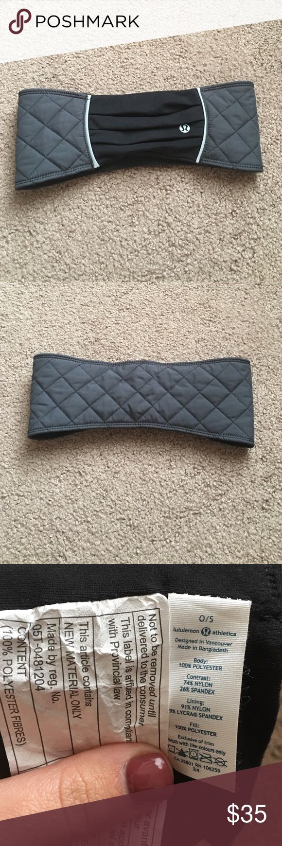 Lululemon Athletica headband New without tags - brand new and never used. OS fits all. lululemon athletica Accessories Hair Accessories