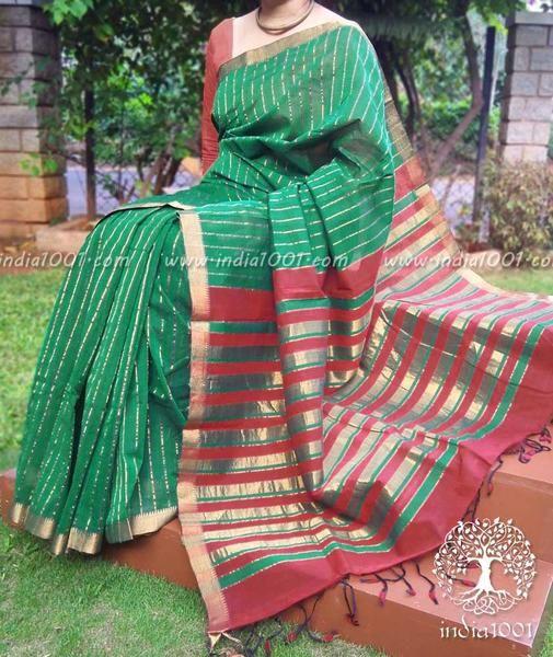 Fine & Elegant Mangalgiri Cotton Saree